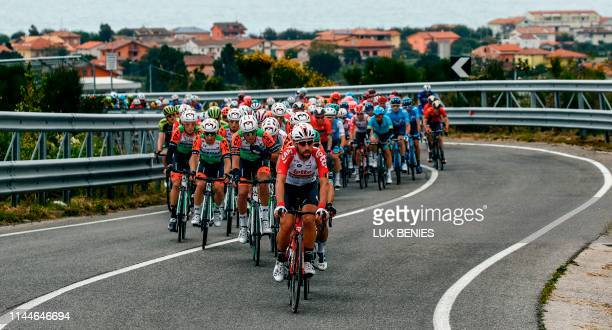 The peleton ride during stage eight of the 102nd Giro d'Italia - Tour of Italy - cycle race, 239kms from Tortoreto Lido to Pesaro on May 18, 2019.