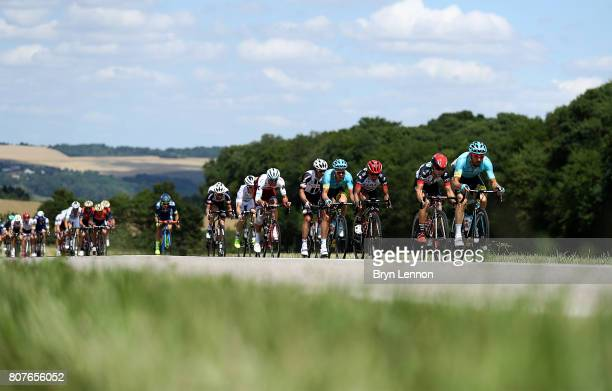 The Peleton rides during stage four of Le Tour de France 2017 on July 4 2017 in Vittel France