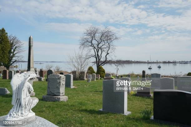The Pelham Cemetery on City Island and Hart Island is in Long Island Sound on April 7 2020 in New York Hart Island has been the location of a Union...