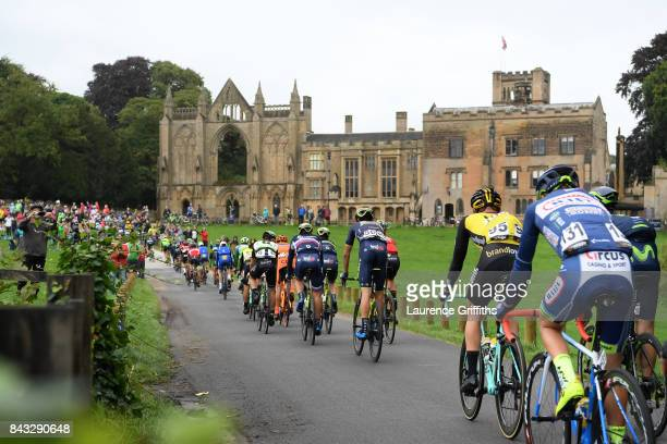 The Peloton approaches Newstead Abbey during stage four of the 14th Tour of Britain 2017 on September 6 2017 in Newark upon Trent United Kingdom