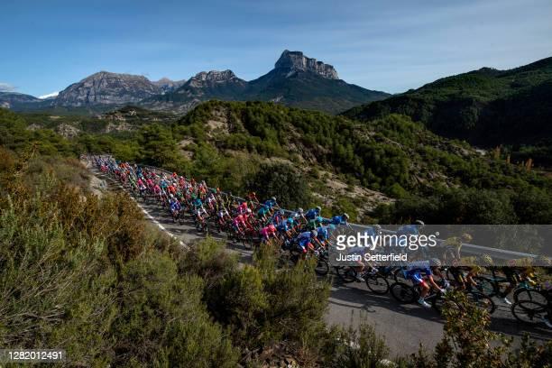 The Peloton climbs Alto de Vio / Mountains / Landscape / during the 75th Tour of Spain 2020, Stage 5 a 184,4km Huesca to Sabiñánigo 835m / @lavuelta...