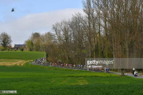 The peloton during the 18th Ronde van Vlaanderen - Tour of Flanders 2021, Women's Elite a 152,4km race frim Oudenaarde to Oudenaarde / #RVV21 /...