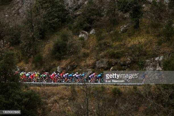 The peloton during the 53rd Tour Des Alpes Maritimes Et Du Var, Stage 1 a 186,8km stage from Biot to Gourdon 698m / Landscape / @letour0683 / on...