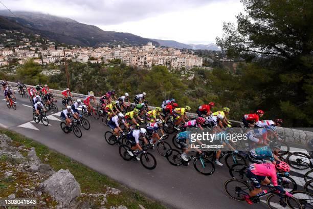 The peloton during the 53rd Tour Des Alpes Maritimes Et Du Var, Stage 1 a 186,8km stage from Biot to Gourdon 698m / Landscape / Tourette sur loup...