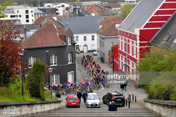 The peloton during the 61st De Brabantse Pijl - La Flèche Brabançonne 2021, Men's Elite a 201,7km race from Leuven to Overijse 106m / Village /...
