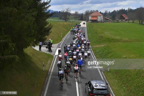 The Peloton during the 74th Tour De Romandie 2021, Stage 2 a 165,7km stage from La Neuveville to Saint-Imier / #TDR2021 / #TDRnonstop / #UCIworldtour...