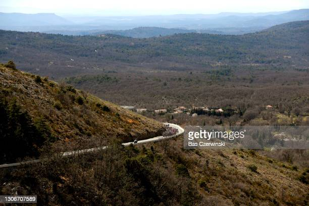 The peloton during the 79th Paris - Nice 2021, Stage 6 a 202,5km stage from Brignoles to Biot 120m / Peloton / Landscape / #ParisNice / on March 12,...