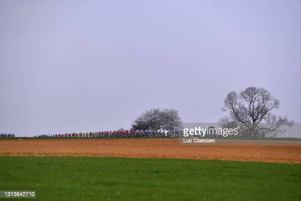 The Peloton during the 85th La Fleche Wallonne 2021, Men Elite a 193,6km race from Charleroi to Mur de Huy 204m / Landscape / #FlecheWallonne / on...