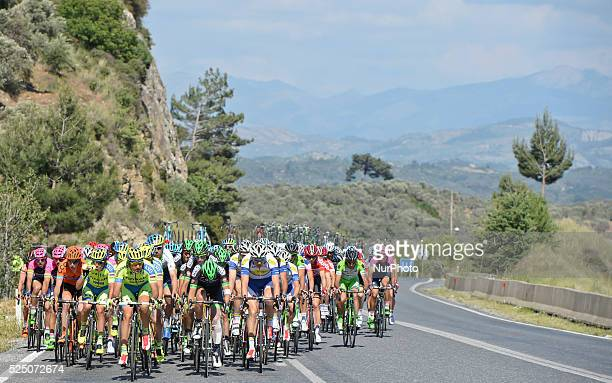 The peloton during the sixth stage of the 51st Presidential Cycling Tour of Turkey from Denizli to Selcuk Selcuk Turkey on May 1 2015