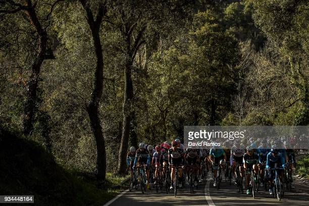 The peloton head up Collsacreu during the 98th Volta Ciclista a Catalunya 2018 Stage 1 a 1523km stage from Calella to Calella on March 19 2018 in...