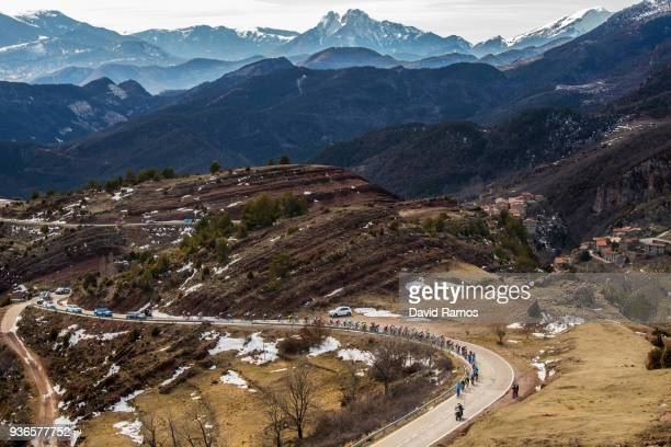 The Peloton head up the Port de la Creueta during the 98th Volta Ciclista a Catalunya 2018, Stage 4 a 170,8km stage from Llanars-Vall De Camprodon to...