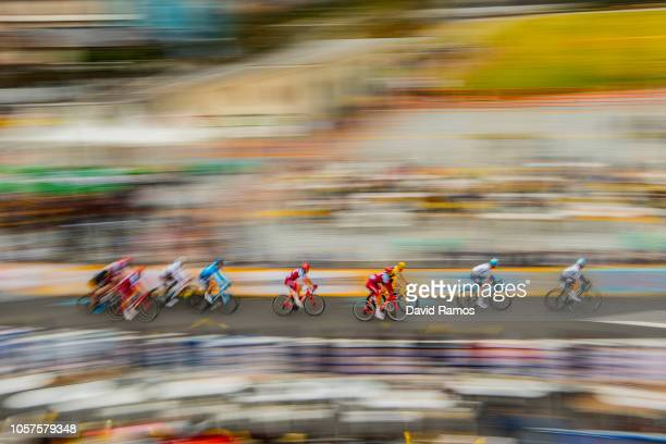 The peloton in action during the 6th Tour de France Saitama Criterium 2018 a 589km race from Saitama to Saitama / TDF / on November 04 2018 in...