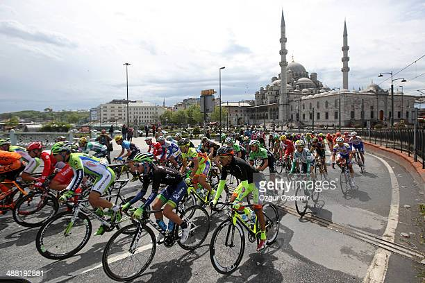 The peloton make their way through the historical city of Istanbul during the 8th and final stage of the 50th Presidential Cycling Tour a 121 km...