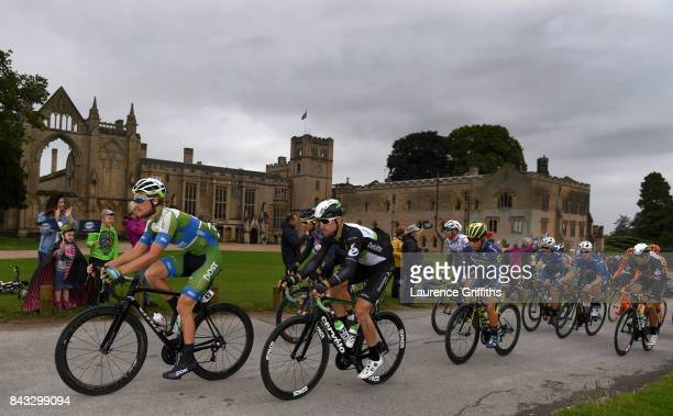 The Peloton passes Newstead Abbey during stage four of the 14th Tour of Britain 2017 on September 6 2017 in Newark upon Trent United Kingdom