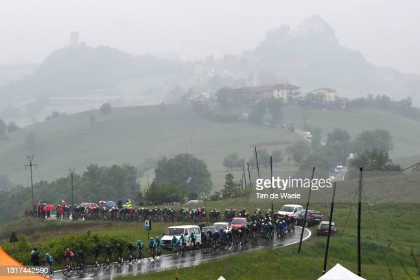The Peloton passing through La Stella during the 104th Giro d'Italia 2021, Stage 4 a 187km stage from Piacenza to Sestola 1020m / Rain / Landscape /...