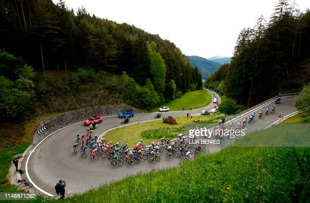 The peloton rides during the stage seventeen of the 102nd Giro d'Italia - Tour of Italy - cycle race, 181kms from Commezzadura to Anterselva/Antholz...