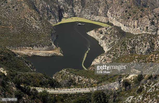 The peloton rides in the Angeles National Forest during Stage 2 of the Amgen Tour of California on May 16 2016 from South Pasadena to Santa Clarita...