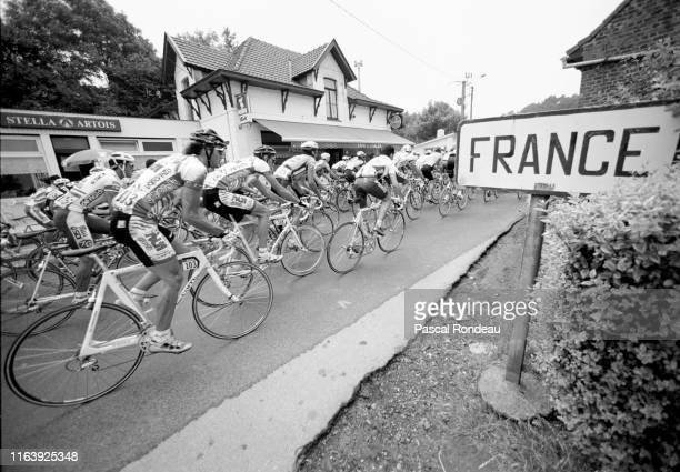 The peloton rides into France on the Roubaix to Boulogne-sur-Mer, stage two of the Tour de France on 4th July 1994 near Roubaix, France.