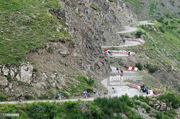 The Peloton rides on the Col de Sarenne during Stage 18 of the Tour de France on July 18 Gap to Alped'Huez France