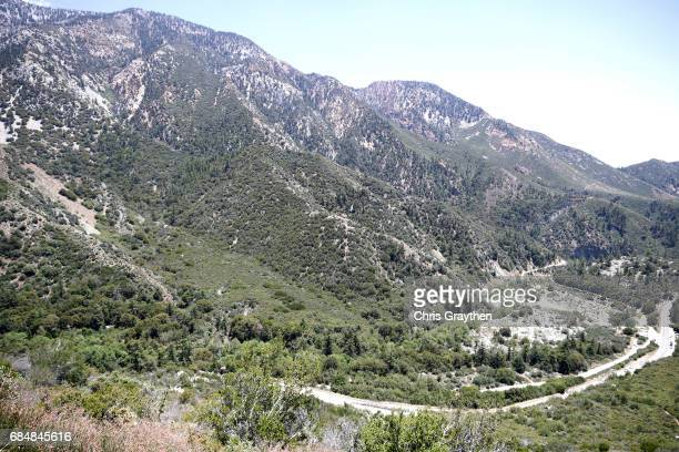 The peloton rides up the Glendora Ridge Road summit during stage five of the AMGEN Tour of California from Ontario to Mt Baldy on May 18 2017 in...