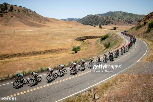 The peloton rolls through the hills outside of King City during stage 3 of the Amgen Tour of California on May 15 2018 in King City California