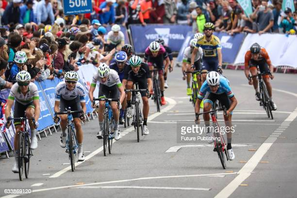 The peloton sprints for the finish line during stage 4 at Kinglake as part of the 2017 Jayco Herald Sun Tour on February 05 2017 in Melbourne...