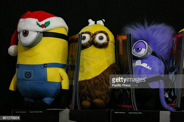 The peluches of minions displayed during the fair Second edition of 'Xmas Comics and Games' a Christmas party preview of Torino Comics 2016 the...