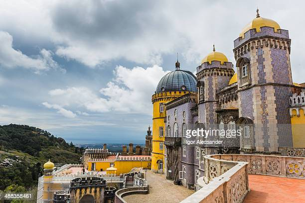 the pena national palace in portugal - sintra stock pictures, royalty-free photos & images
