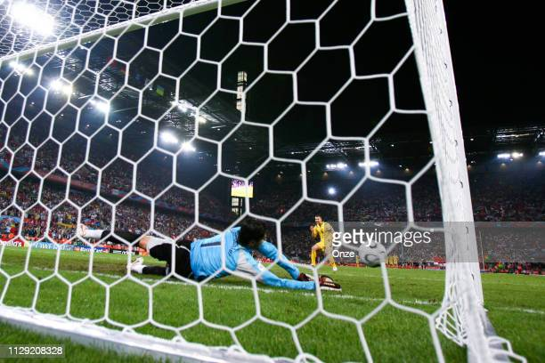 The penalty of Andriy Shevchenko is saved by Pascal Zuberbuehler during the World Cup Round of 16 match between Switzerland and Ukraine at...