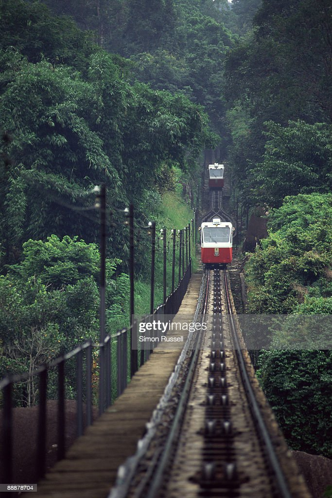 The Penang Hill Funicular Railway, Malaysia : Stock Photo