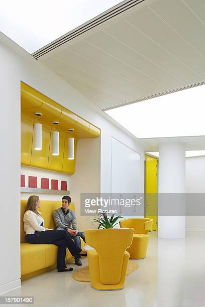 Sr/Sheppard Robson Manchester Close Up Of Yellow Breakout Area Office Architect