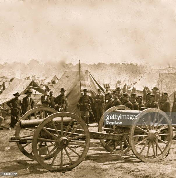 The Peninsula Va A 12pdr howitzer gun captured by Butterfield's Brigade near Hanover Court House May 27 1862