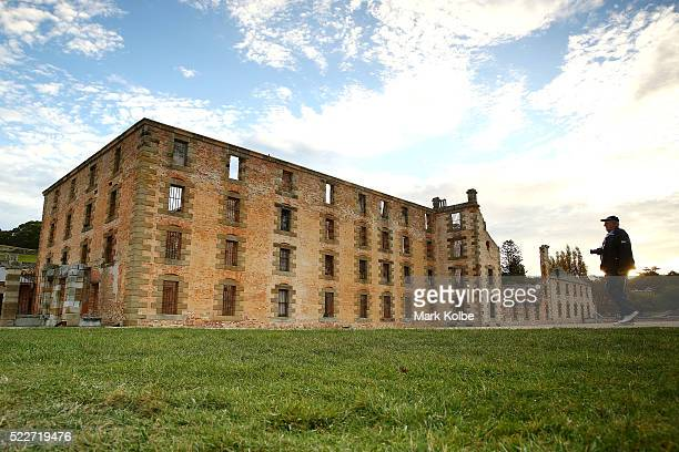 The Penitentiary is seen as the sun sets at the Port Arthur Historical Site on April 18 2016 in Port Arthur Australia The historic town became...