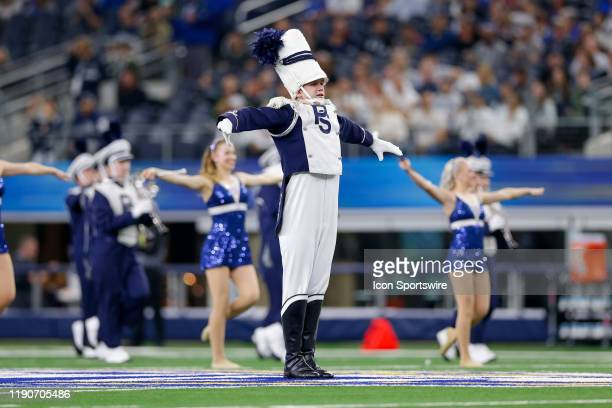 The Penn State Nittany Lions Drum Major performs prior to the Cotton Bowl Classic between the Memphis Tigers and Penn State Nittany Lions on December...