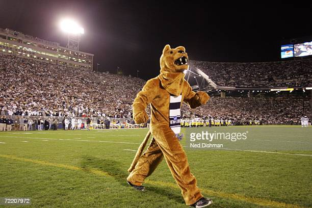 The Penn State Nittany Lions mascot walks on the field during the game against the University of Michigan Wolverines at Beaver Stadium on October 14...