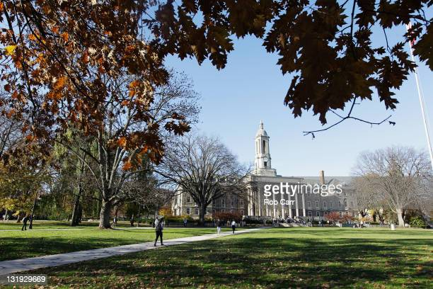 The Penn State University campus is seen on November 8 2011 in University Park Pennsylvania Amid allegations that former assistant Jerry Sandusky was...