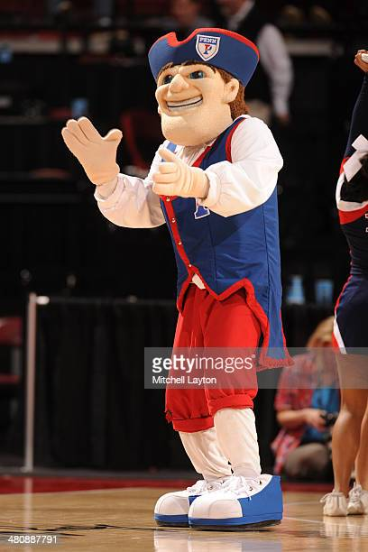 The Pennsylvania Quakers mascot on the floor during the NCAA Women's First Round Basketball Tournament against the Texas Longhorns on March 23, 2014...