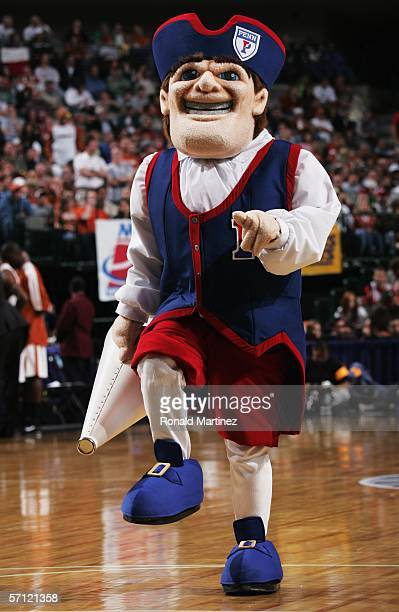 The Pennsylvannia Quakers mascot parades on the court during the game against the Texas Longhorns in the First Round of the 2006 NCAA Division 1...