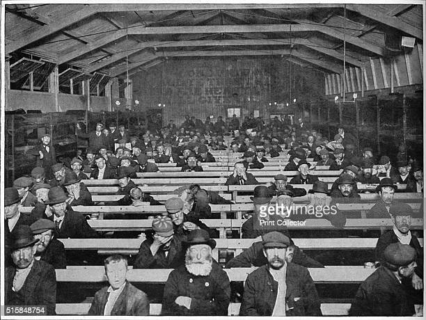 The 'Penny SitUp' Salvation Army shelter Blackfriars London circa 1900 The Penny SitUp one of the first homeless shelters to be created in...