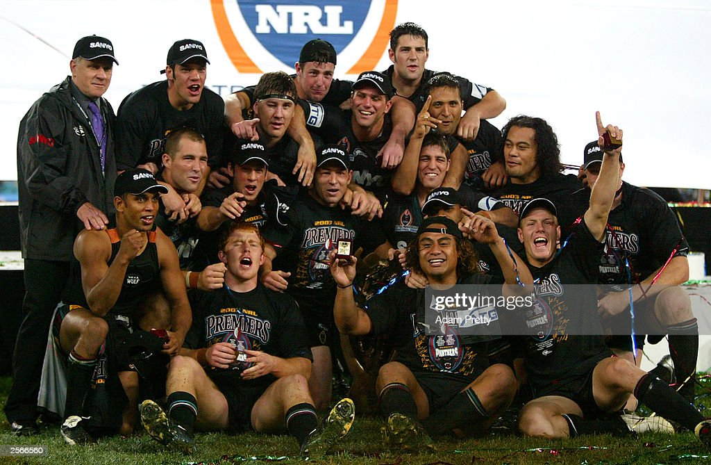 The Penrith Panthers celebrate victory : News Photo
