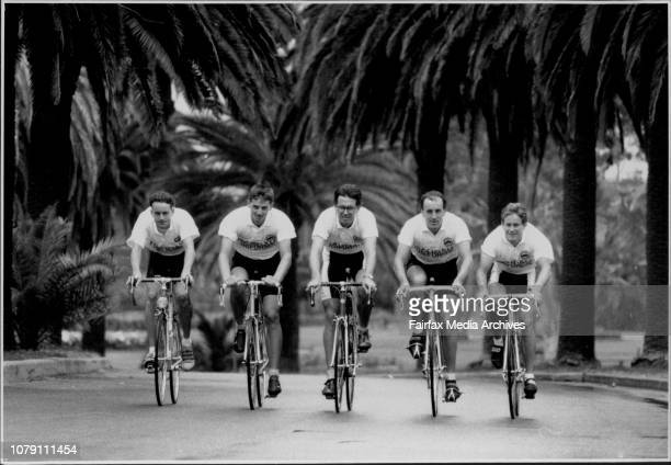 The Penrith Panthers Cycling Club at Centennial Park L to R Warwick McFarlane Glen Price Stuart May John Cosgrove Warren DoylePanthers on the prowl...