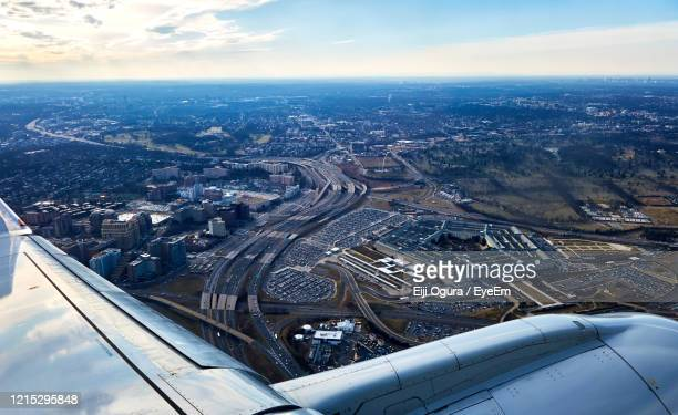 the pentagon from the air - department of defense stock pictures, royalty-free photos & images