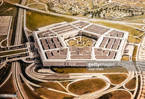 the pentagon, u.s. department of defense during the 1950's - department of defense stock pictures, royalty-free photos & images