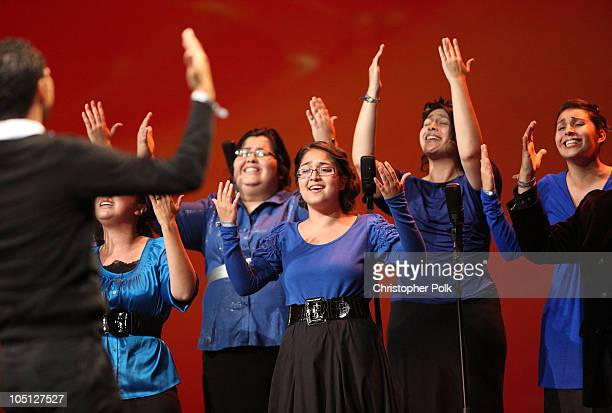 The Pentecostals of The Bay Area perform For Every Mountain onstage during Verizon's How Sweet The Sound 2010 event at ORACLE Arena on October 9 2010...