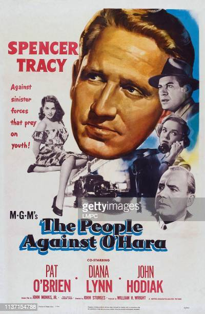 The People Against O'hara poster US poster art Diana Lynn Spencer Tracy Pat O'Brien John Hodiak 1951