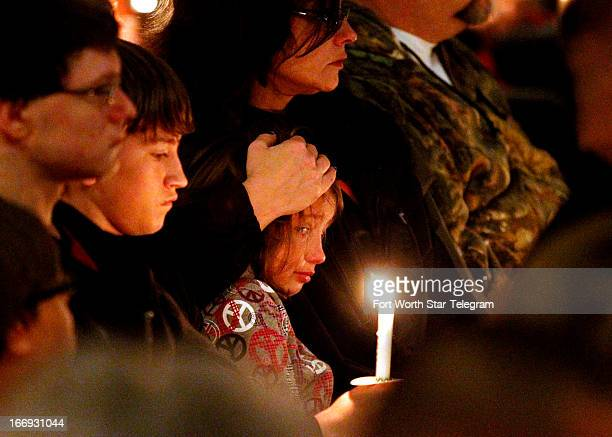 The people of West Texas during a candlelight vigil on Thursday April 18 for victims families friends and first responders near the scene of the...