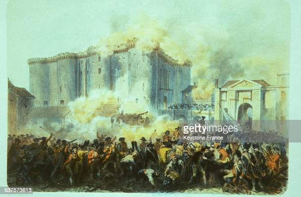 the people takes the Bastille prison on July 14 1789 in Paris France