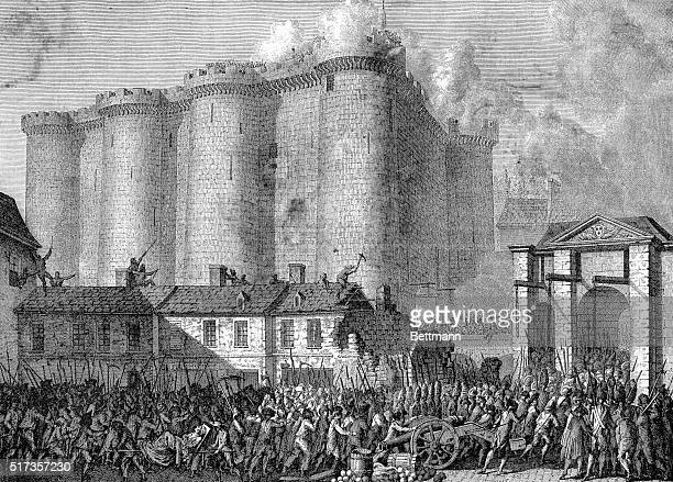 The people taking possession of the Bastille July 14 1789 Engraving after Prieur BPA2# 4149