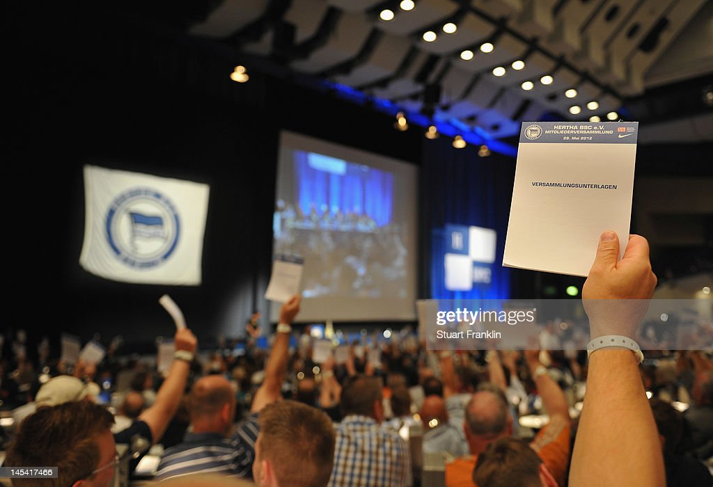 Hertha BSC - Annual Meeting 2012 : News Photo