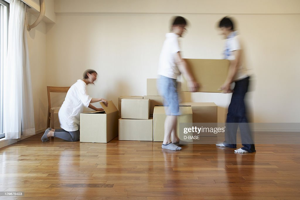 The people who work on moving : Stock Photo